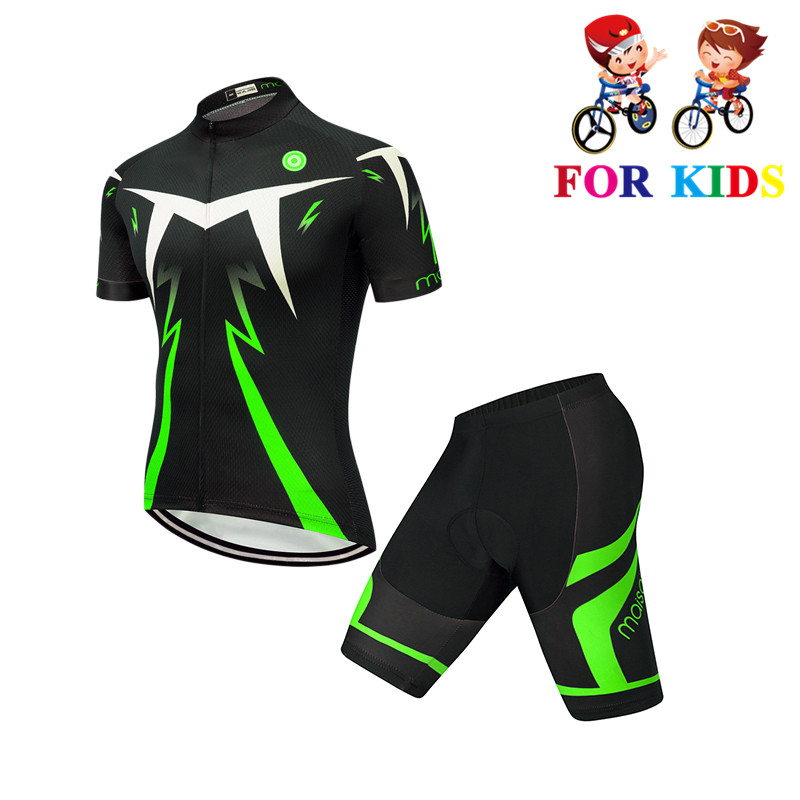 2020 Pro Team Quick Dry Kids Short Sleeve Cycling Jersey Set Children Breathable Bike Clothing Boys Summer Bicycle Wear