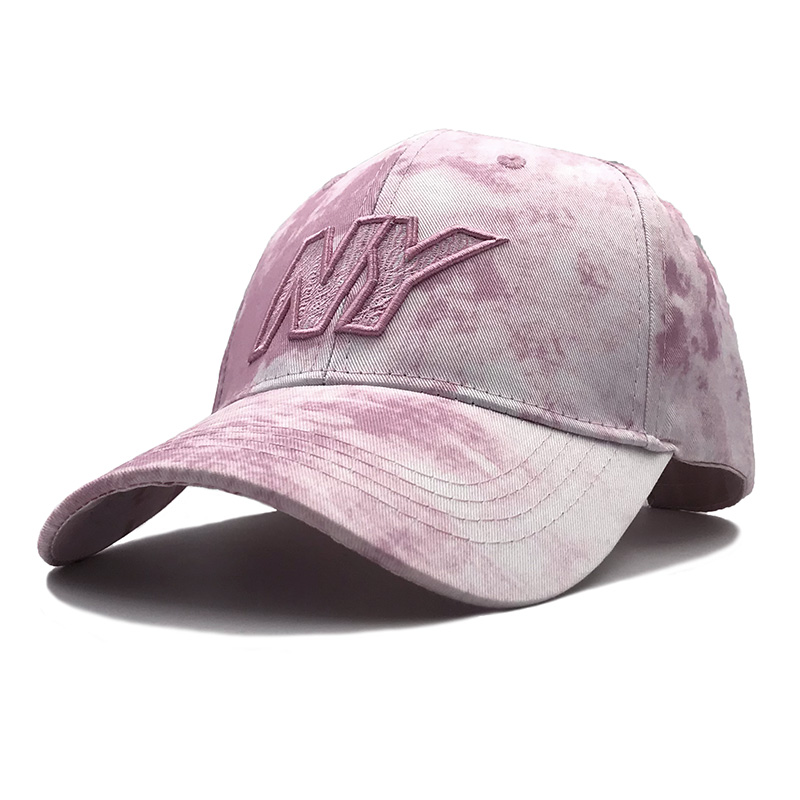 Fashion Personality 3D Embroidery ny Men's Breathable Baseball Cap Ink Multicolor Style Woman Outdoor Sunshade Snapback Cap image