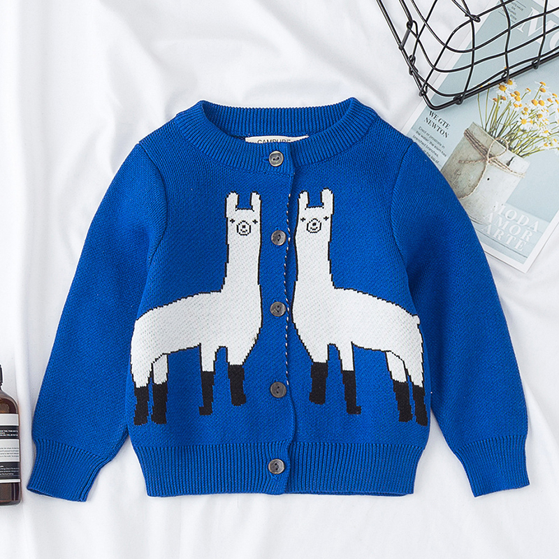 Autumn Family Matching Clothes Women's Baby Boy Girl Cartoon Animal Pattern Long Sleeve Sweaters Mother Son Daughter Outfits 2