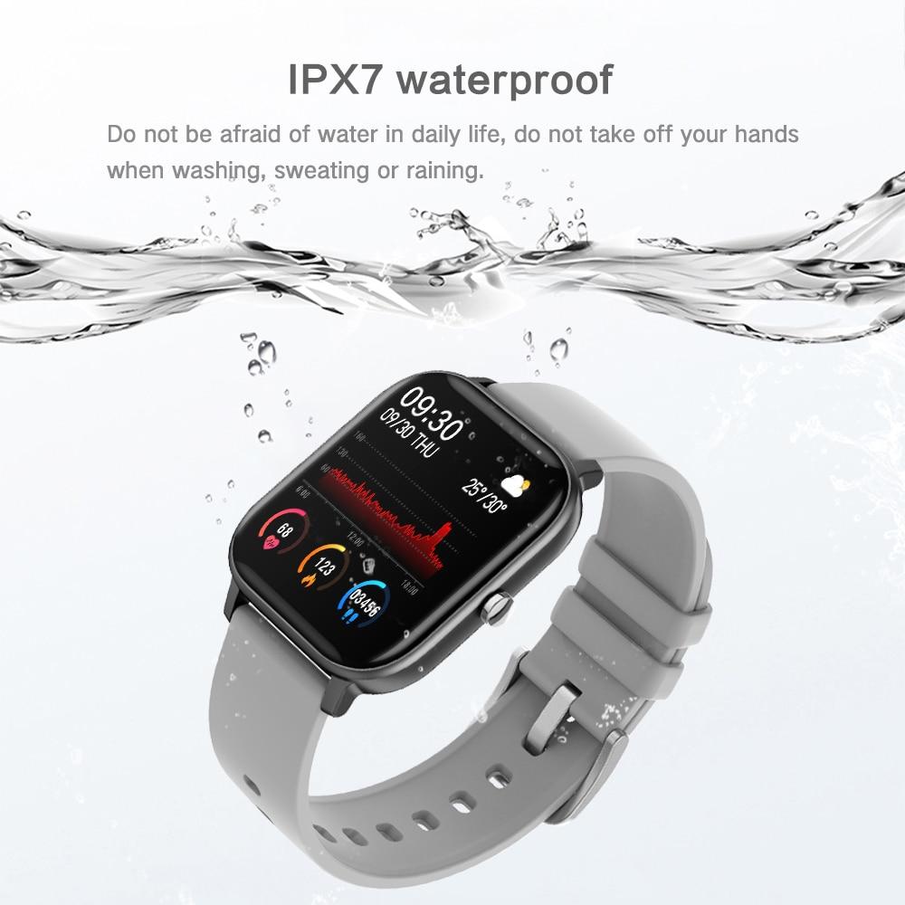 H07f3849766924356bb39ee62334083ebp 2021 New P8 Color Screen Smart Watch Women men Full Touch Fitness Tracker Blood Pressure Smart Clock Women Smartwatch for Xiaomi
