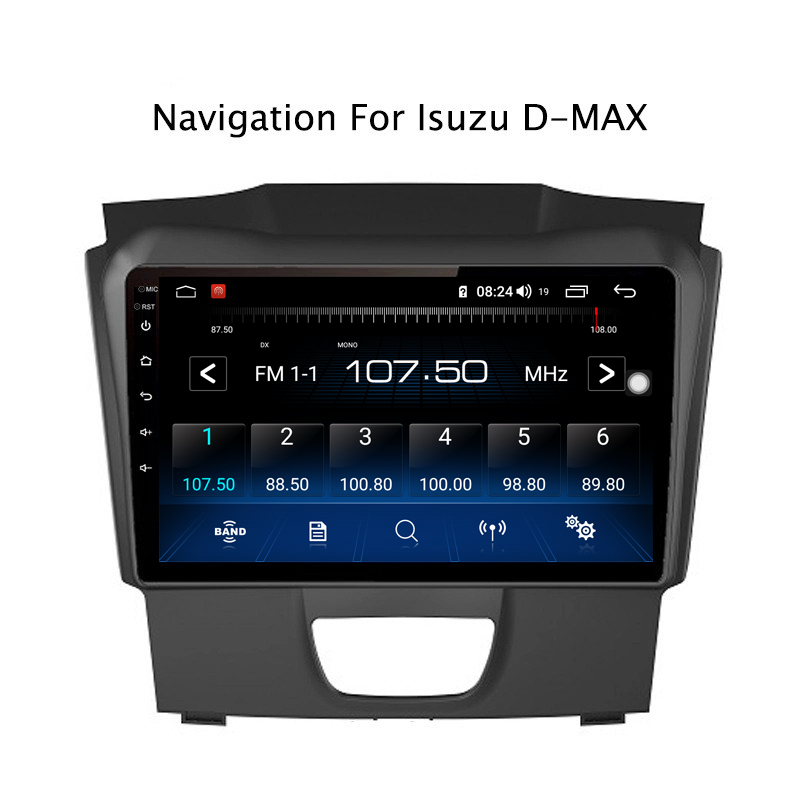 Perfect Ectwodvd 9inch Andriod 8.1 Car DVD GPS For Isuzu D-MAX DMAX 2015-2018 4G RAM 64G ROM CarPlay DSP 4G LTE with WIFI 9