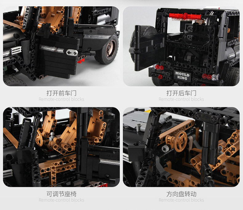 MOULD KING MOC 20100 Compatible 13070 Technic  Benz SUV G500 AWD Wagon Offroad Vehicle Building Block 9