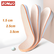 Unisex  Invisible Height Increase Insoles Breathable Absorbent Free Cut For Foot Care Pad Skin-friendly Insoles