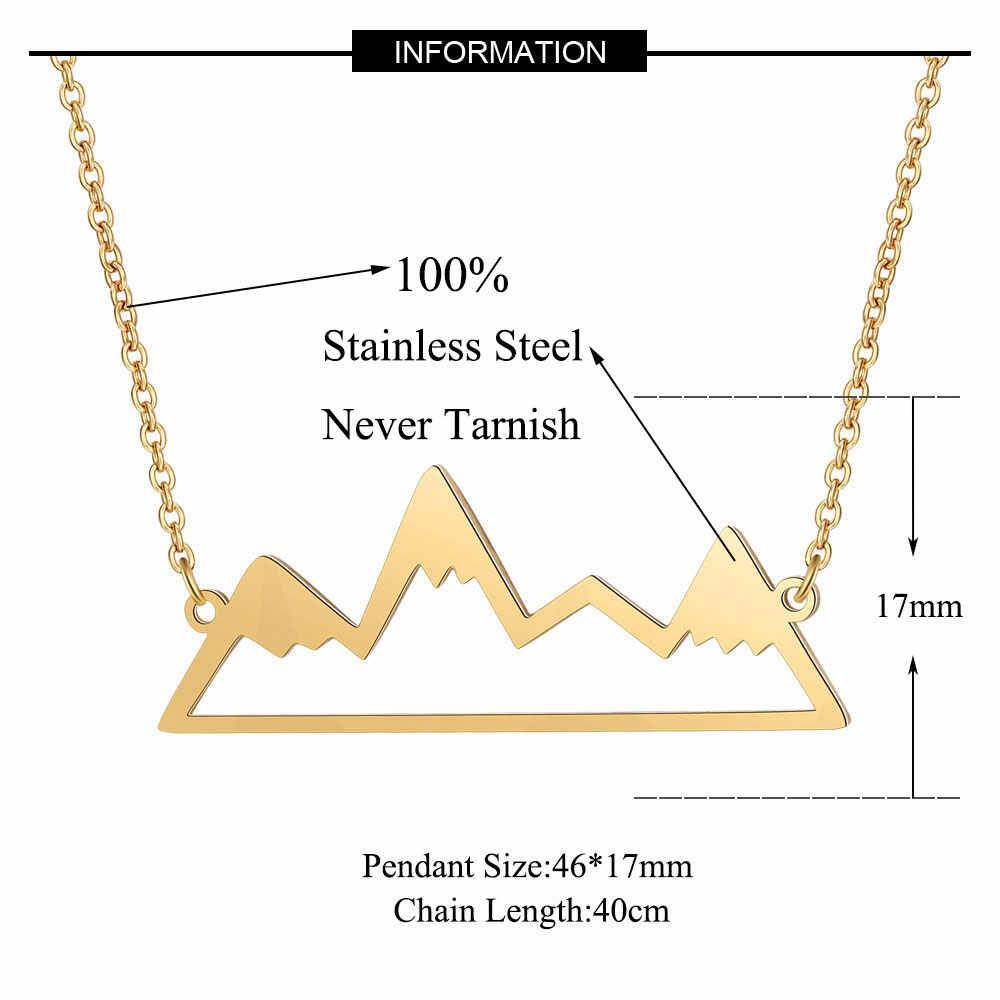 100% prawdziwa stal nierdzewna Hollow Mountain naszyjnik niesamowity design Super jakość naszyjniki biżuteria moda wisiorek naszyjniki
