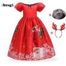 Платье для девочек рождественские детские платья для девочек, вечерние элегантные платья принцессы для девочек, свадебное платье, одежда для детей 3, 6, 8, 14 лет