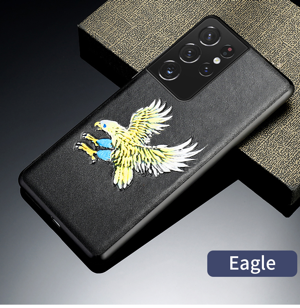 emboss leather case S21 Ultra Case 4