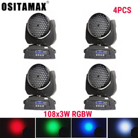 LED Lyre Wash Moving Head Light 108 LEDS 3W Moving Head Disco Light RGBW Wedding Party Lights DJ Equipment Lighting Wash Light