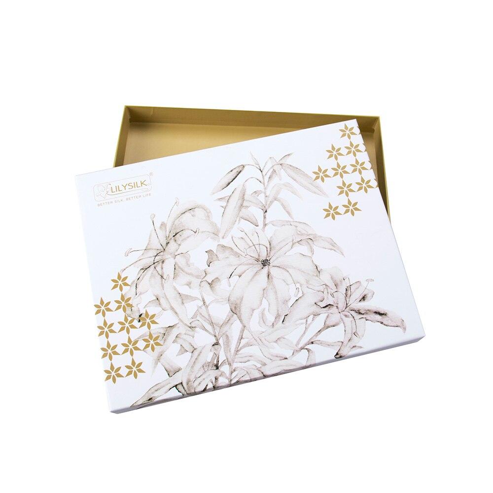 Image 5 - LilySilk 100 Silk Pajamas Set Gold Piping Silk Women Full Length 22 momme Mulberry Free ShippingPajama Sets   -