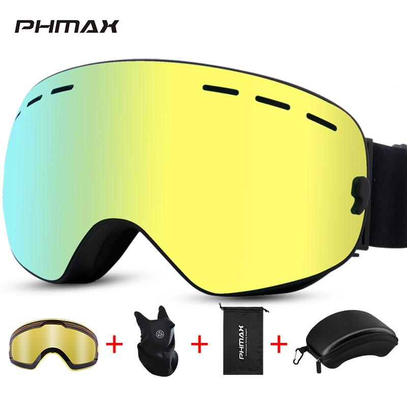 PHMAX, зимние лыжные очки для мужчин и женщин, защита UV400, очки для сноуборда, для занятий спортом на открытом воздухе, для катания на коньках, сн...
