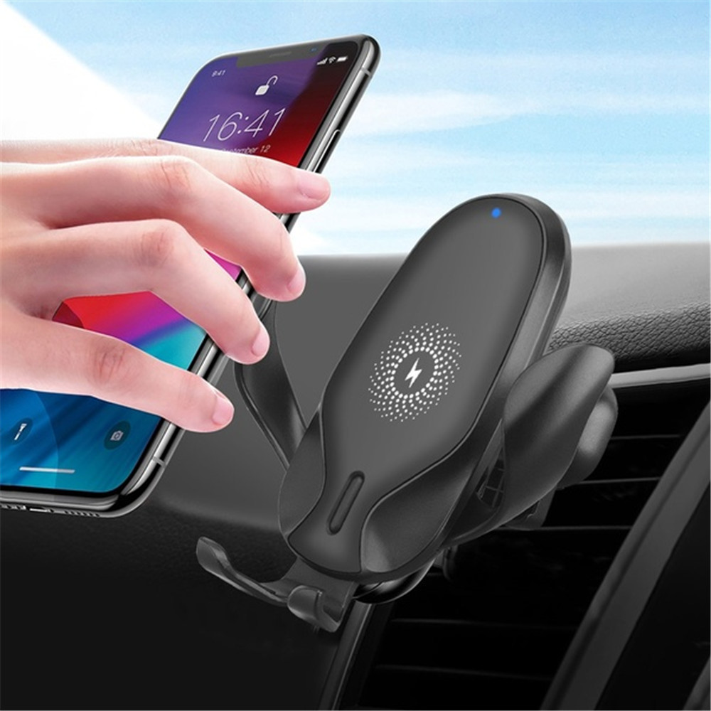 10W Automatic Gravity Intelligent Infrared Qi <font><b>Wireless</b></font> <font><b>Car</b></font> <font><b>Charger</b></font> Mount For IPhone XS XR X 8 10W Fast Charging Phone Holder image