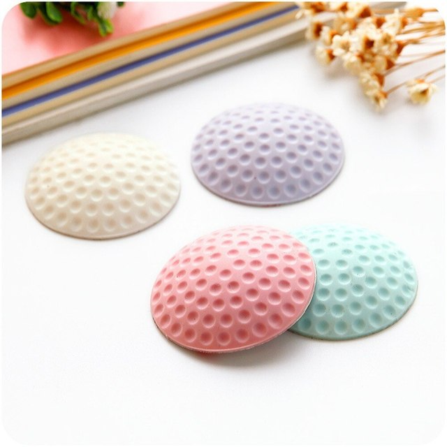 New Thickening Mute door rear wall crash pad golf shape rubber anti-collision pad Safe door handle lock protection Wall Stick 1