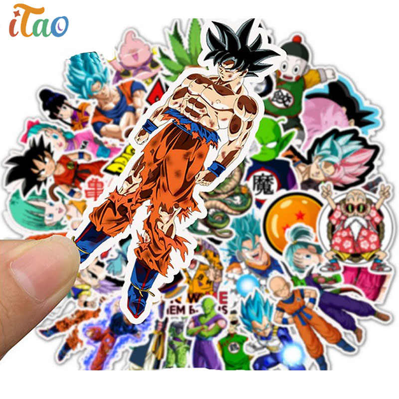 10/20/30/40/50 Stuks Pack Anime Dragon Ball Sticker Waterdichte Pvc Skateboard Cartoon Laptop motorfiets Vsco Cool Kids Speelgoed Stickers