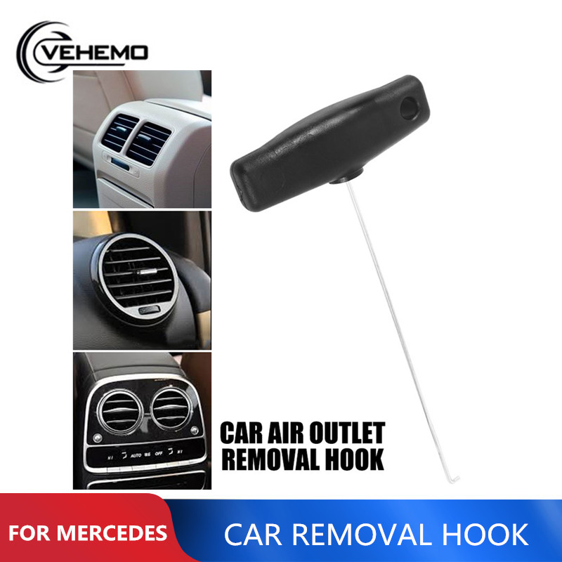 Car Auto 18cm Air Outlet Pulling Hook Remover For Gauges Dashboard Air Outlet Removal Hook For Mercedes-Benz Audi Repair