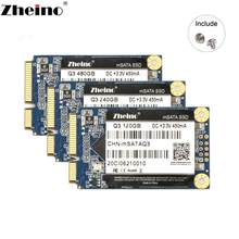 Zheino msata ssd, 120gb 240gb 480gb 128gb 256gb 512gb 1tb 6 gb/s mini sata unidade de estado sólido, interna discos para laptop e desktop