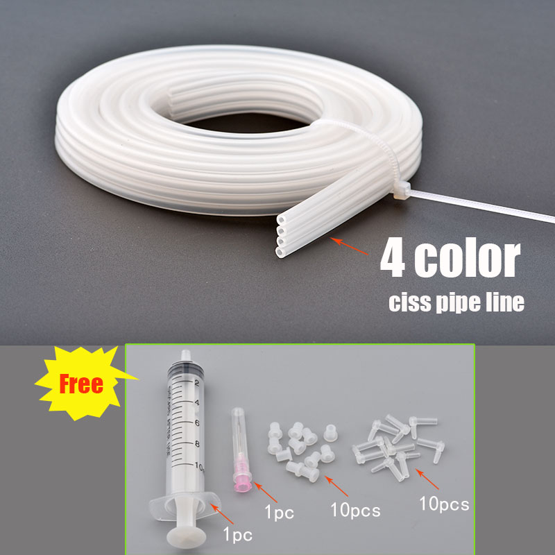 8 L Shape Tube for Canon HP Brother EPSON DIY CISS Continuous Ink Supply System