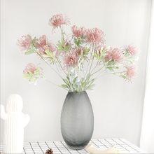 Fleurs artificielles 3 têtes/branches pour décoration de mariage, fausses fleurs en plastique pour jardin de mariage