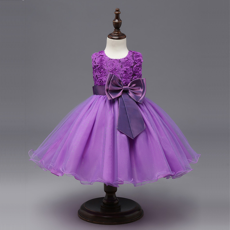 Floral Tutu Dress For Girls Dresses Kids Clothes Wedding Events Flower Girl Dress Birthday Party Costumes Children Clothing 8T 3