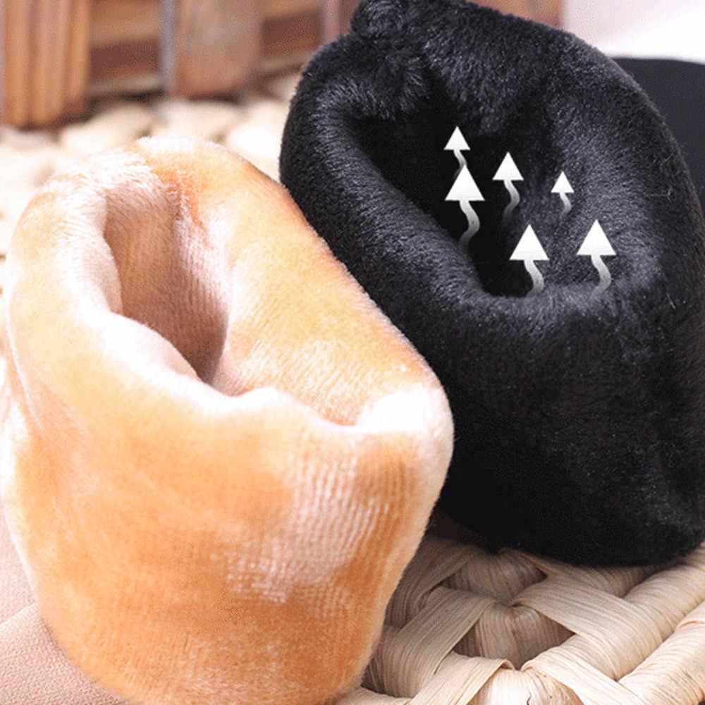 2019 caliente invierno Wamer mujeres Thicken lana térmica Cachemira nieve calcetines sin costuras botas de terciopelo piso dormir calcetines para mujer