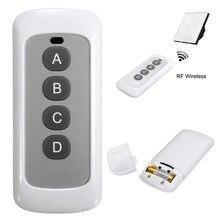 Abs 433mhz controle remoto inteligente 4 botões menor consumo de energia alta estabilidade sensibilidade para luzes de parede