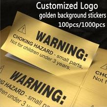 100pcs4-7cm personalizado escovado ouro/prata adesivo de fundo logotipo personalizado etiqueta de presente à prova dwaterproof água brilho nome personalizado selo etiqueta