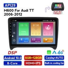 Mekede 9853 4g lte 8 núcleo android 10.0 navegação gps do carro jogador multimídia para audi tt mk2 8j carplay wifi bluetooth fm