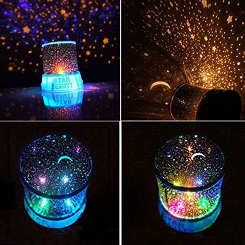 LED Starry Night Sky Projector Lamp Star Light Cosmos Master Kids Gift Indoor Lighting Festival Decoration