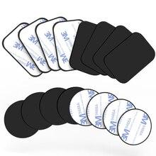 Placa de Metal magnética para coche, soporte Universal de hierro para teléfono móvil, pegatina de disco, soporte magnético para IPhone 12 X, 5 uds.