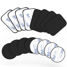 Placa de Metal magnética para coche, soporte Universal para teléfono móvil, hoja de hierro, adhesivo de disco, soporte magnético para IPhone