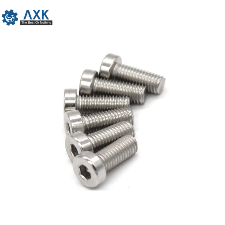 10/50 M3 M4 <font><b>M5</b></font> M6 304 A2-70 stainless steel DIN7984 Hex Hexagon Socket Thin Low Short Profile Head Allen Cap Screw Bolt L=4-<font><b>40mm</b></font> image