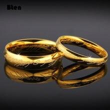 Bten midi anel tungstênio um anel de energia ouro o filme de anel lvers mulheres e homens moda jóias atacado livre navio da gota