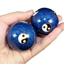 Одна пара китайский Баодин шары здоровья эмали шарик массажные шарики для рук терапии, физических упражнений и снятия стресса