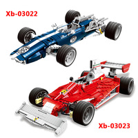 2454Pcs XINGBAO XB 03022 Charm Blue Sonic Racing Creative Technology Sports Car Assembled Building Blocks Model Gift Toys
