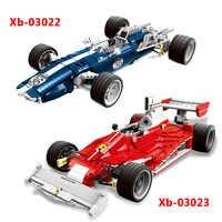 2454Pcs XINGBAO XB-03022 Charm Blue Sonic Racing Creative Technology Sports Car Assembled Building Blocks Model Gift Toys