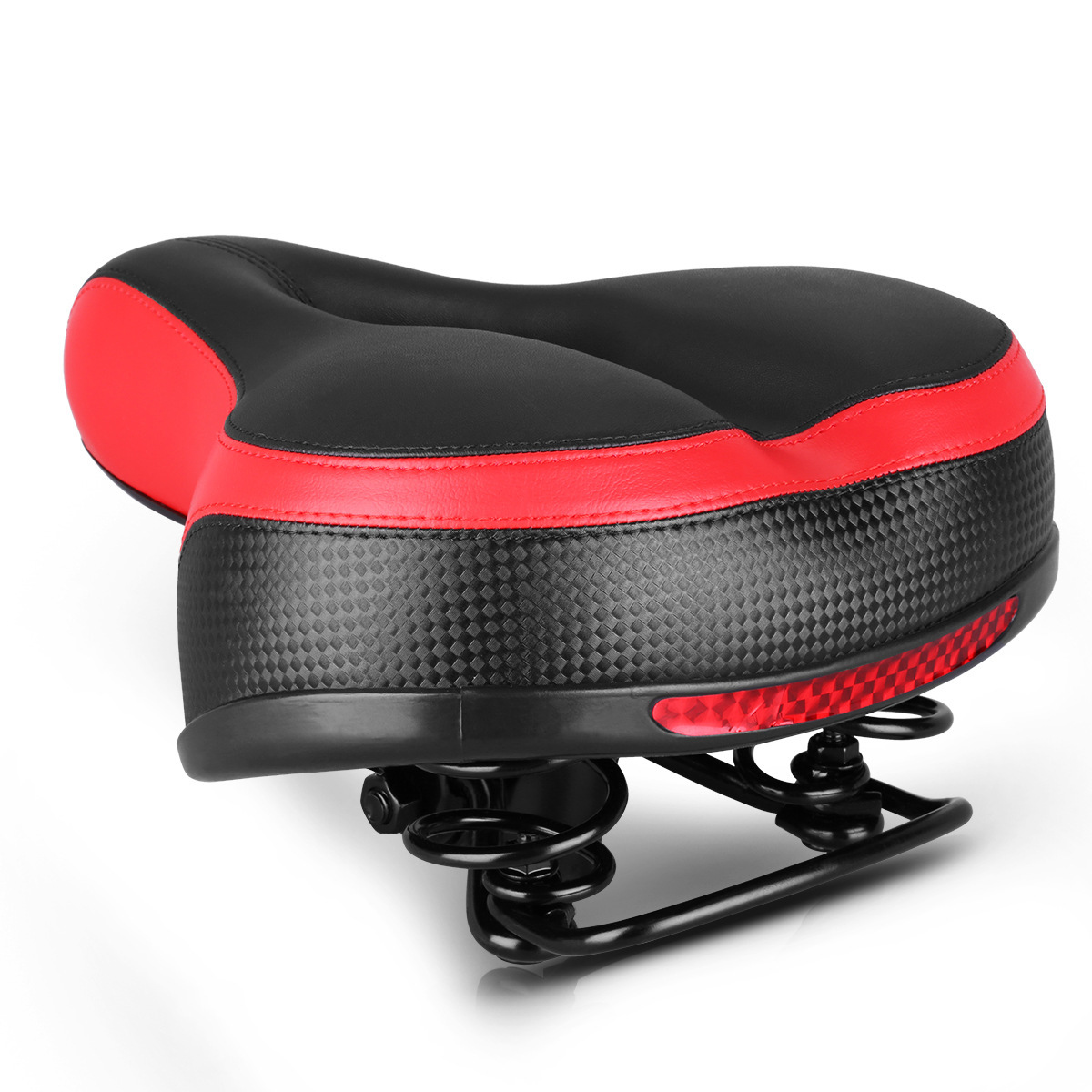Large Butt Bicycle Seat Cushion Mountain Bike Seat Cushion Saddle Widened Plus Soft Thick Sponge Seat Pad Bicycle Equipment