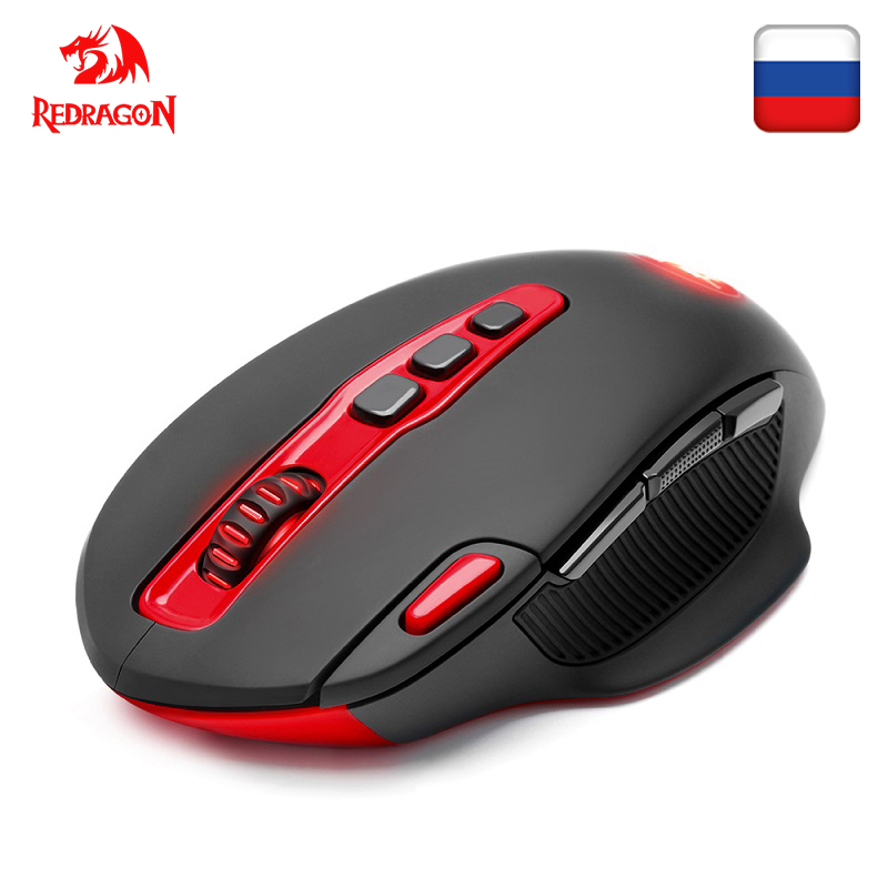 Redragon SHARK M688 Wireless Gaming Mouse programmable 7200 DPI 10 buttons ergonomic for overwatch gamer Mice laptop PC computer image
