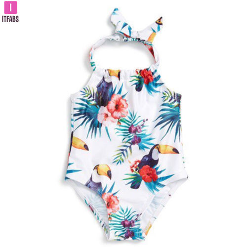 Toddler Kids Baby Girl Clothes One Piece Swimsuit Little Girls Swimwear Swimming Suit Bikini Beachwear Bathing Suit Biquini