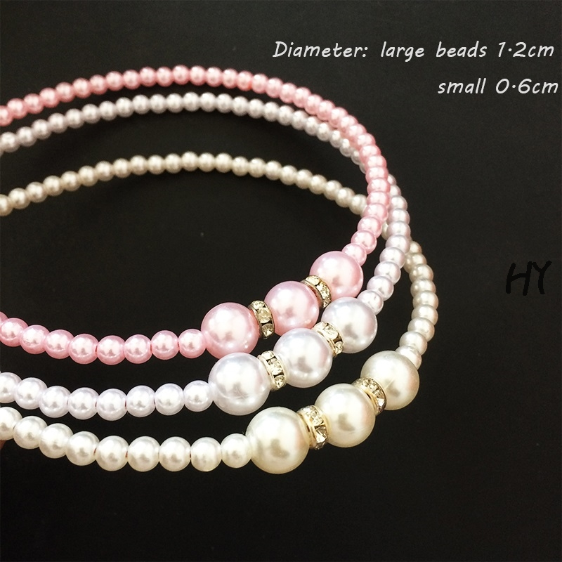 1 Pcs lot Beads Hair Simulated Pearl Jewelry Hairband For Women Bridal Hair Accessories Wedding Decoration Headdress in Hair Accessories from Mother Kids