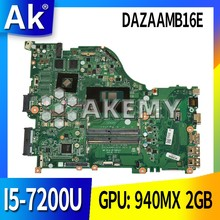 E5-575G motherboard Mainboard for Acer E5-575 F5-573 laptop ZAA X32 DAZAAMB16E0 REV:E CPU: I5-7200U GPU: 940MX 2GB 100%test OK(China)