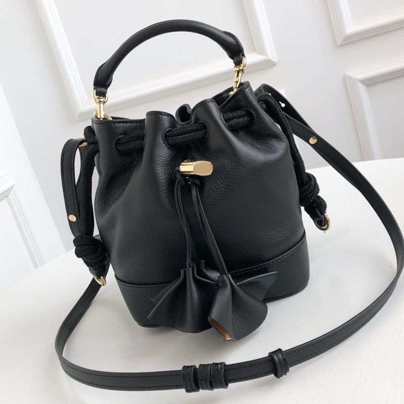 100% Genuine leather bags women handbag real leather shoulder messenger bags composite bucket bag drawstring brand designer bags