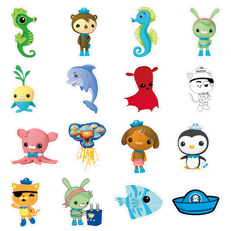 40pcs Octonauts not repeating kids Toys Stickers Movie Barnacles Peso PVC Waterproof Bubble Sticker Children Room Party Supplies