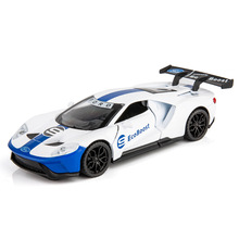 1:32 Ford GT Le Mans V8 Race Car Alloy Car Model Diecasts & Toy Vehicles Car Model with Light & Sound Car Toys for Children 104