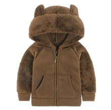 SAGACE Baby Jas 2019 Winter Nieuwe Meisjes Pluche Stitch Warme Jas Fleece Pageant Party Capuchon Snowsuit Baby Zip Up jas Oute(China)