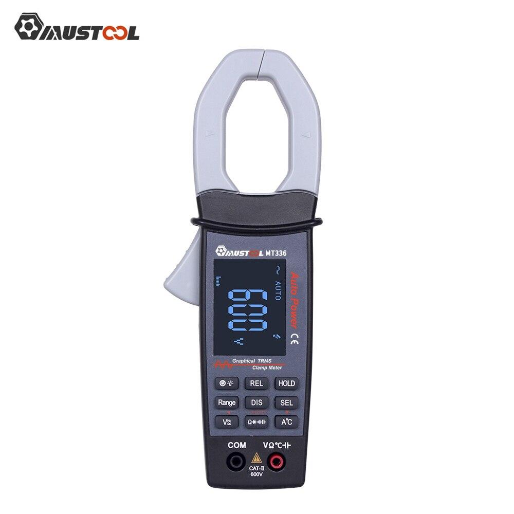 Цифровой токометр MUSTOOL MT336, 600 В, истинный RMS, с дисплеем формы волны переменного тока, 2 в 1, Бесконтактный мультиметр, осциллограф