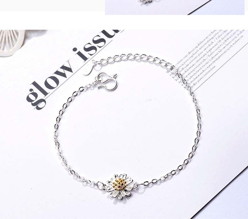 Pandora Bracelet Classic Hipster Bracelet For Women Simple Golden Sunflower Daisy Bracelet Femme Jewelry Bransoletki Damskie Bracelets Bangles Aliexpress
