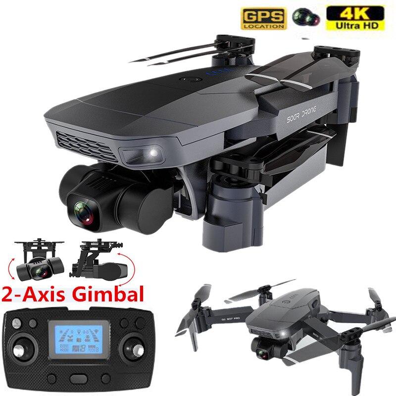 Profissão gps zangão 4k 5g câmera wifi pro câmera dupla zangão 2 eixos estabilizador cardan câmera inteligente siga-me quadrocopter dron