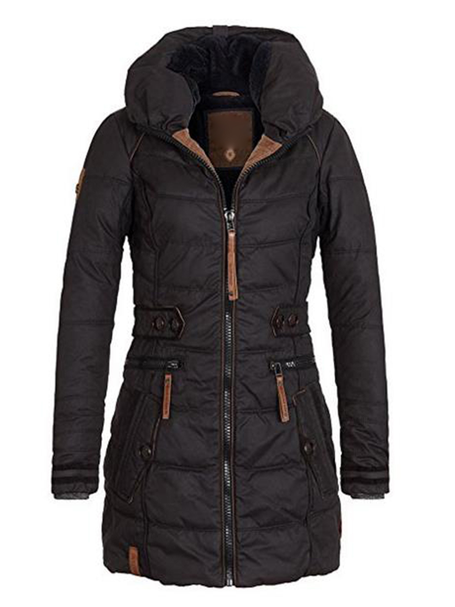 Winter Jacket Outerwear Padded Short Hooded-Coats Basic-Tops Female Thicken Plus-Size