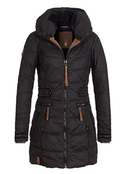 Women's Parkas Thicken Outerwear Solid Hooded