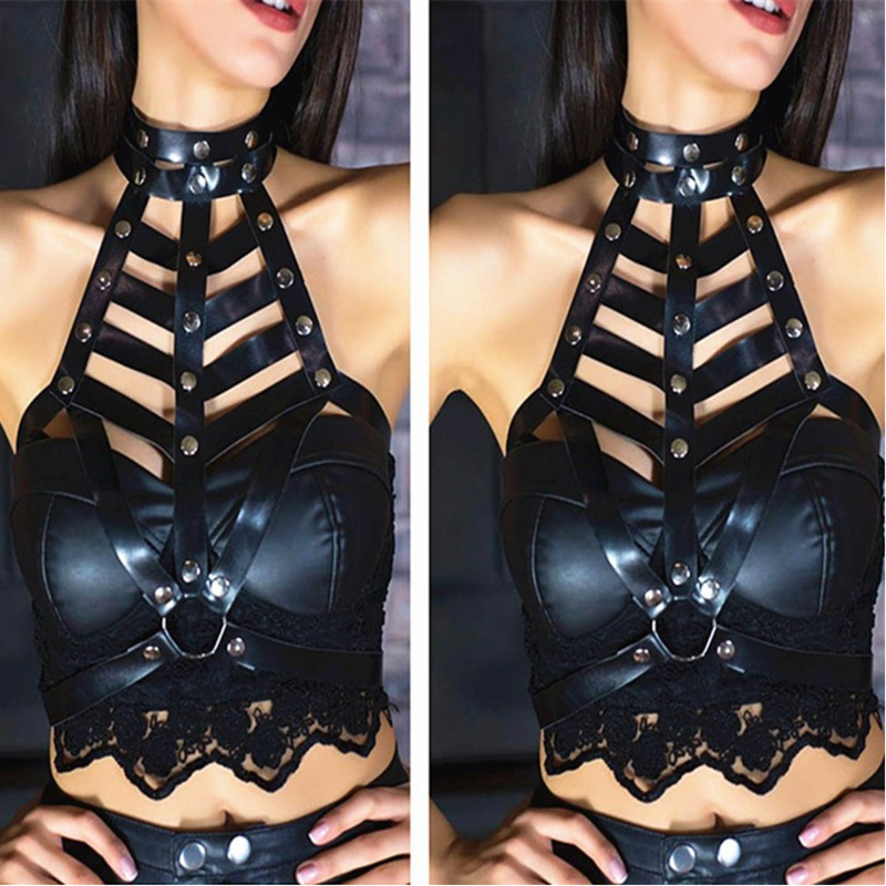 2020 New Design Wide Belt BDSM Bondage Belts For Women Stylish Punk Style Waistband Strap Belt Fashion Corset Belt Female ZK821