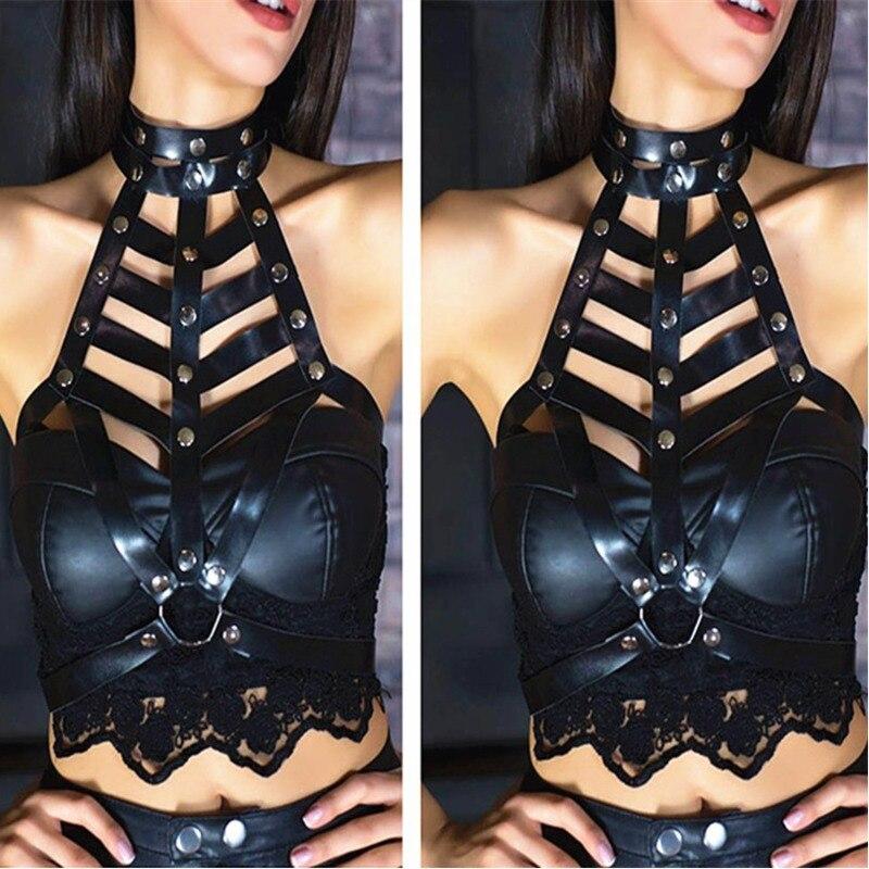 2020 New Design Wide Belt BDSM Bondage Belts For Women Stylish Punk Style Waistband Strap Belt Fashion Corset Belt Female ZK821