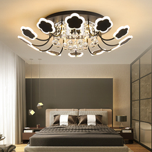 Omicron White/Black Modern crystal chandeliers ceiling For Living room Bedroom lustre cristal led chandelier lighting Fixtures